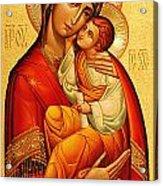 Mary The God Bearer Acrylic Print by Philip Ralley
