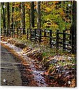 Maryland Country Roads - An Early Kiss Of Winter Acrylic Print