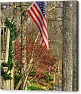Maryland Country Roads - Flying The Colors 1a Acrylic Print by Michael Mazaika