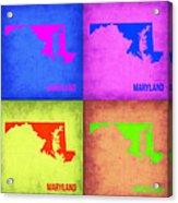 Maryland Pop Art Map 1 Acrylic Print