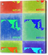 Maryland Pop Art Map 2 Acrylic Print