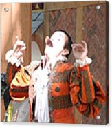 Maryland Renaissance Festival - Johnny Fox Sword Swallower - 121219 Acrylic Print by DC Photographer