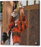 Maryland Renaissance Festival - Johnny Fox Sword Swallower - 121245 Acrylic Print by DC Photographer