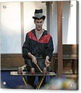 Maryland Renaissance Festival - Johnny Fox Sword Swallower - 121281 Acrylic Print by DC Photographer