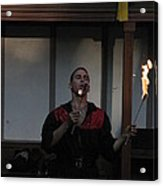 Maryland Renaissance Festival - Johnny Fox Sword Swallower - 121299 Acrylic Print by DC Photographer
