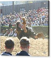 Maryland Renaissance Festival - Jousting And Sword Fighting - 1212110 Acrylic Print by DC Photographer