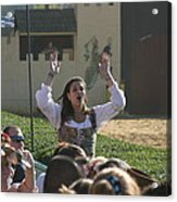 Maryland Renaissance Festival - Jousting And Sword Fighting - 1212122 Acrylic Print by DC Photographer