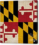 Maryland State Flag Acrylic Print by Pixel Chimp