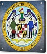 Maryland State Seal Acrylic Print