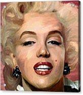 Marylin Monroe Acrylic Print by James Shepherd