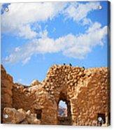 Masada Fortress Acrylic Print