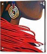 Masai Bride - Original Artwork Acrylic Print