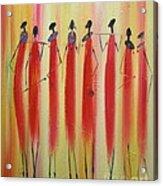 Masai Warriors Acrylic Print