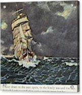 Masefield Sea Fever, 1902 Acrylic Print