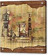 Masjid E Nabwi Sketch Acrylic Print