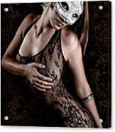 Mask And Lace Acrylic Print