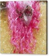 Mask Light Color Pencil Acrylic Print