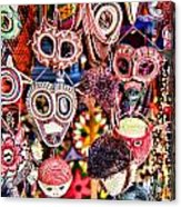 Mask Me In El Casco By Diana Sainz Acrylic Print