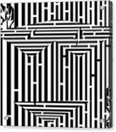 Mask Of The Maze  Acrylic Print