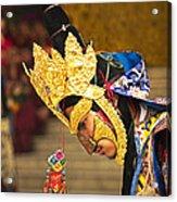 Masked Lama Performing Ritual Dance Acrylic Print