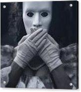 Masked Woman Acrylic Print
