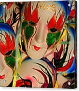 Masks Of New Orleans Acrylic Print