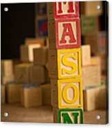 Mason - Alphabet Blocks Acrylic Print