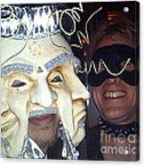 Masquerade Masked Frivolity Acrylic Print