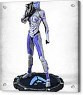 Mass Effect - Asari Alliance Soldier Acrylic Print by Frederico Borges