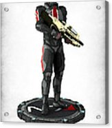 Mass Effect - N7 Soldier Acrylic Print by Frederico Borges