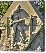 Massachusetts At Gettysburg 1st Mass. Volunteer Infantry Skirmishers Close 1 Steinwehr Ave Autumn Acrylic Print