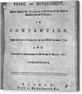 Massachusetts Constitution Acrylic Print
