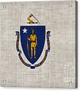 Massachusetts State Flag Acrylic Print by Pixel Chimp