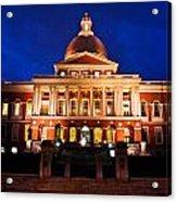 Massachusetts State House Acrylic Print by John McGraw