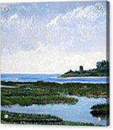 Massachussetts Marsh Morning Acrylic Print by Lorraine McFarland