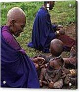 Massai Women And Child - Tanzania Acrylic Print by Craig Lovell