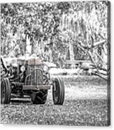 Massey Ferguson Tractor Acrylic Print