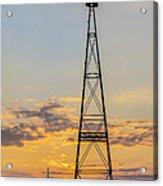 Massey Windmill Silhouette Acrylic Print