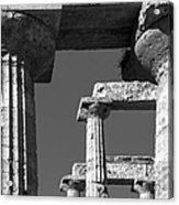 Massive Columns Of Paestum Acrylic Print