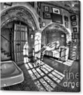 Master Bedroom At Fonthill Castlebw Acrylic Print