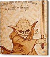 Master Yoda Wisdom Acrylic Print