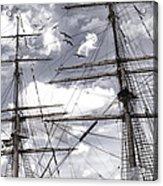 Masts Of Sailing Ships Acrylic Print