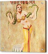 Mata Hari Vintage Wine Ad Acrylic Print by Cinema Photography