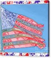 Matalic Flag Acrylic Print