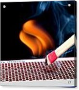 Matchstick On Fire Acrylic Print