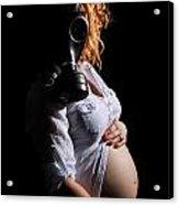 Maternity Gas Mask Acrylic Print