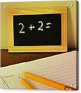 Math Frustration Acrylic Print