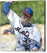 Matt Harvey Acrylic Print by Michael  Pattison