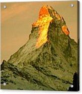 Matterhorn In Switzerland Acrylic Print