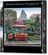 Matterhorn Mountain Disneyland Collage Acrylic Print